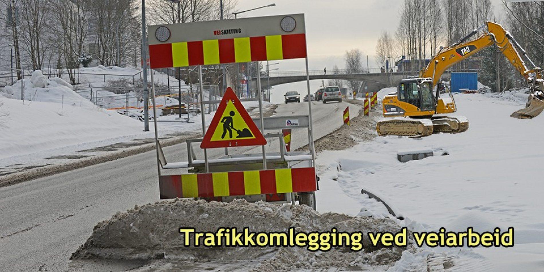 Alt innen trafikkomlegging og skilting